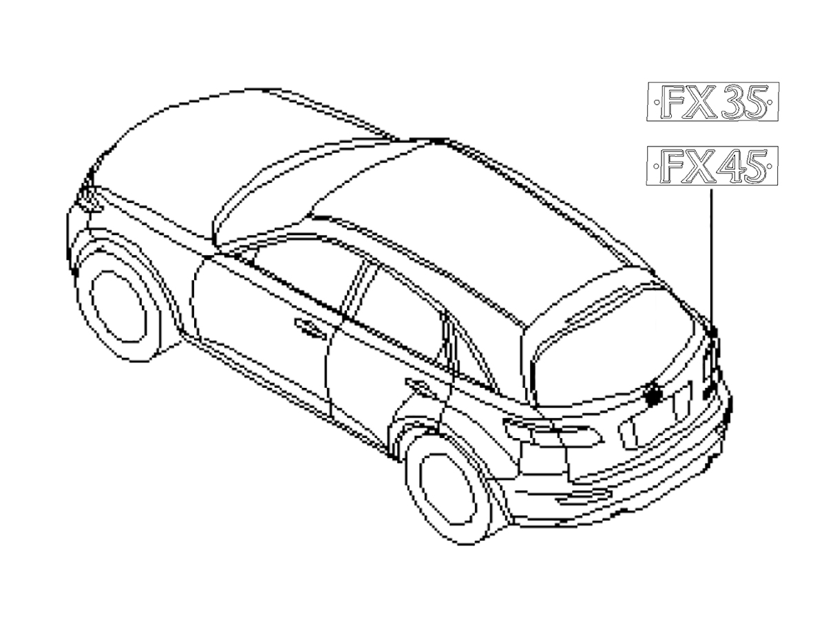 Oem Fx35 Fx45 Rear Emblem