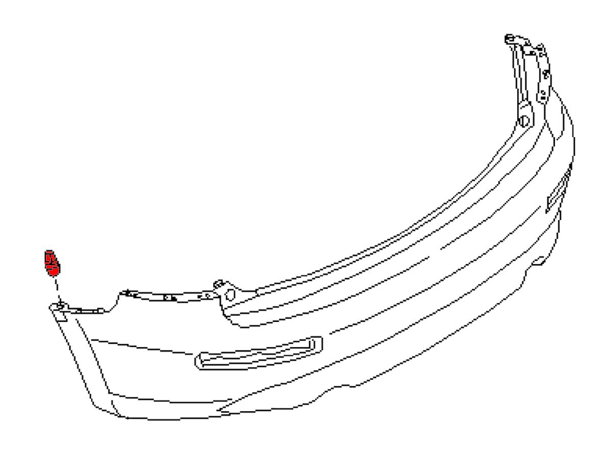 OEM FX35 / FX45 Rear Bumper/Fascia Side Grommet