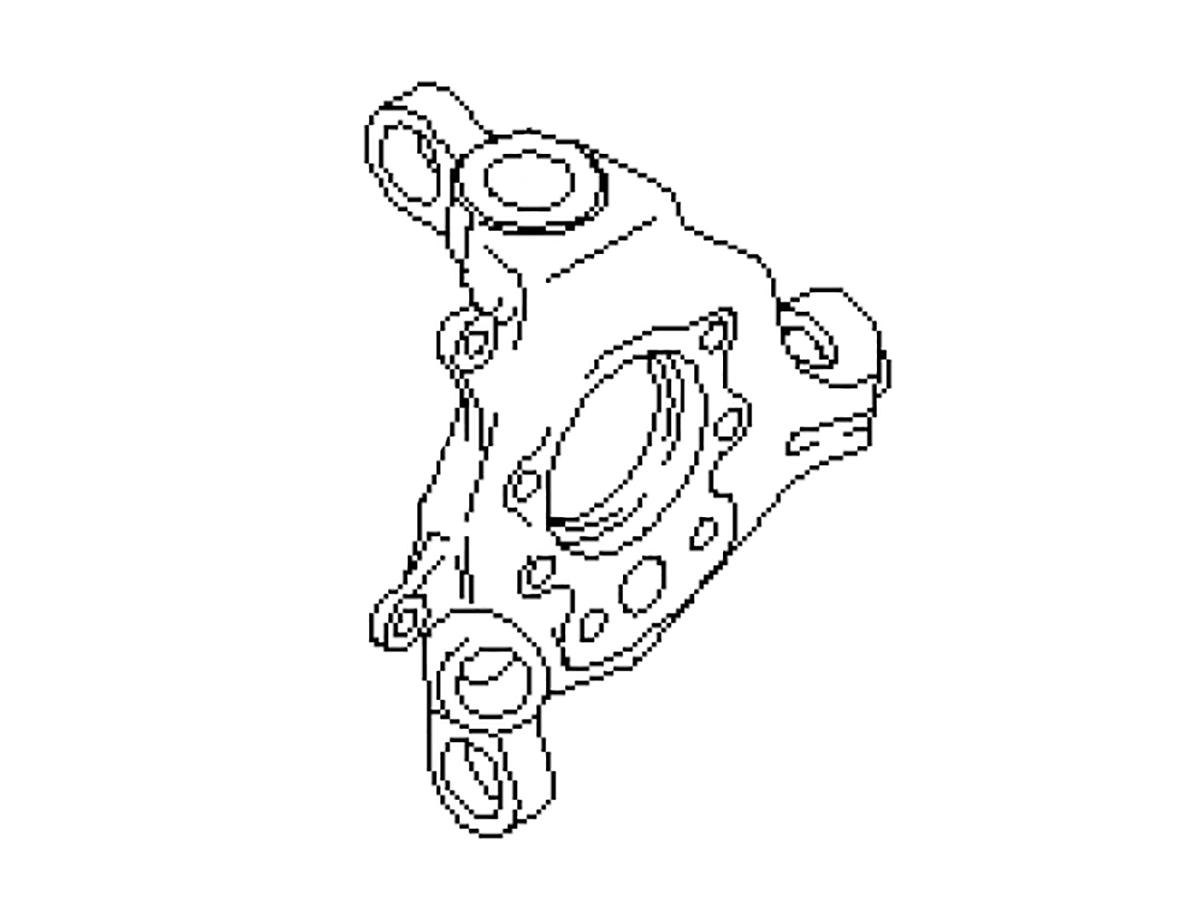 OEM FX35 / FX45 Rear Spindle (Knuckle), Z1 Motorsports