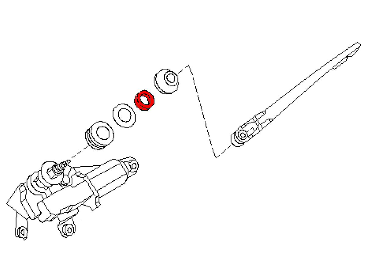 OEM FX35 / FX45 Rear Window Wiper Pivot Nut, Z1 Motorsports