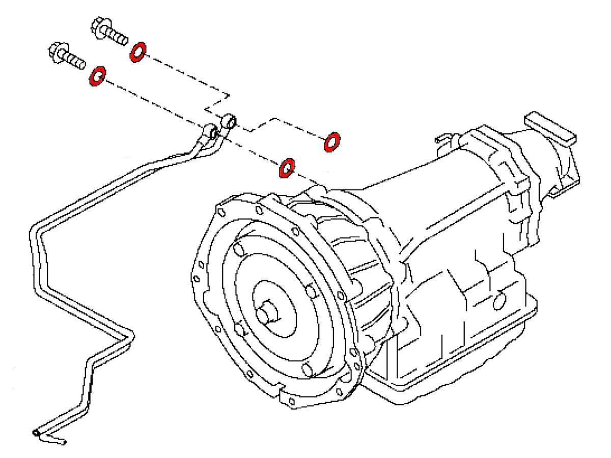 Oem 370z G37 G35 Automatic Transmission Cooler Line