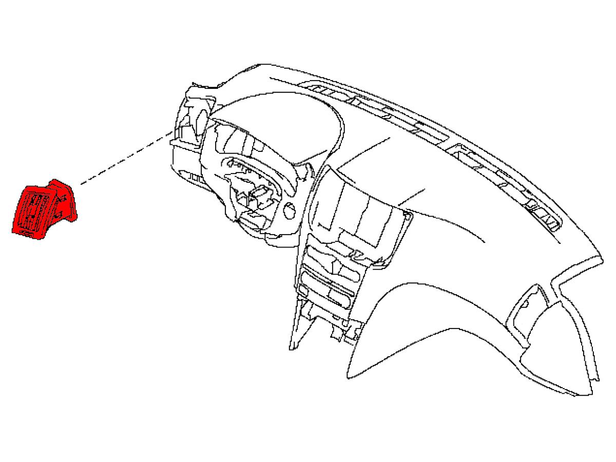 Oem G37 G35 Sedan Dash Board Vent Assembly