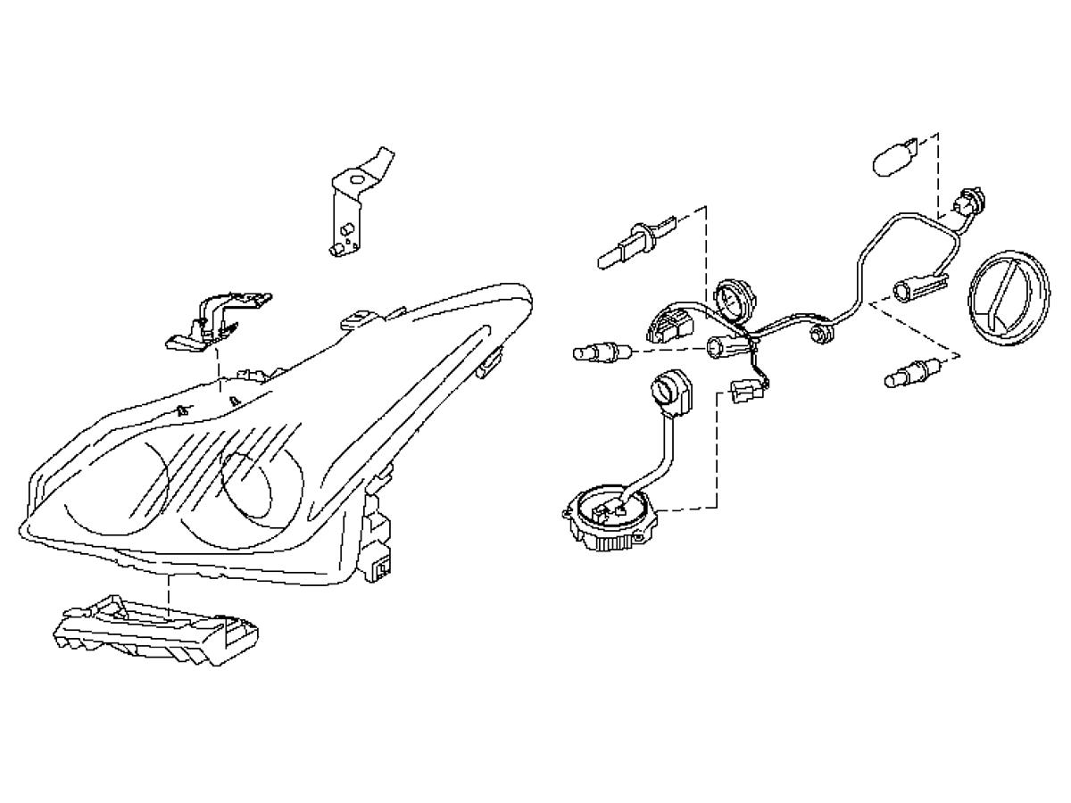 Oem G37 Coupe Convertible Headlamp Assembly Z1 Motorsports