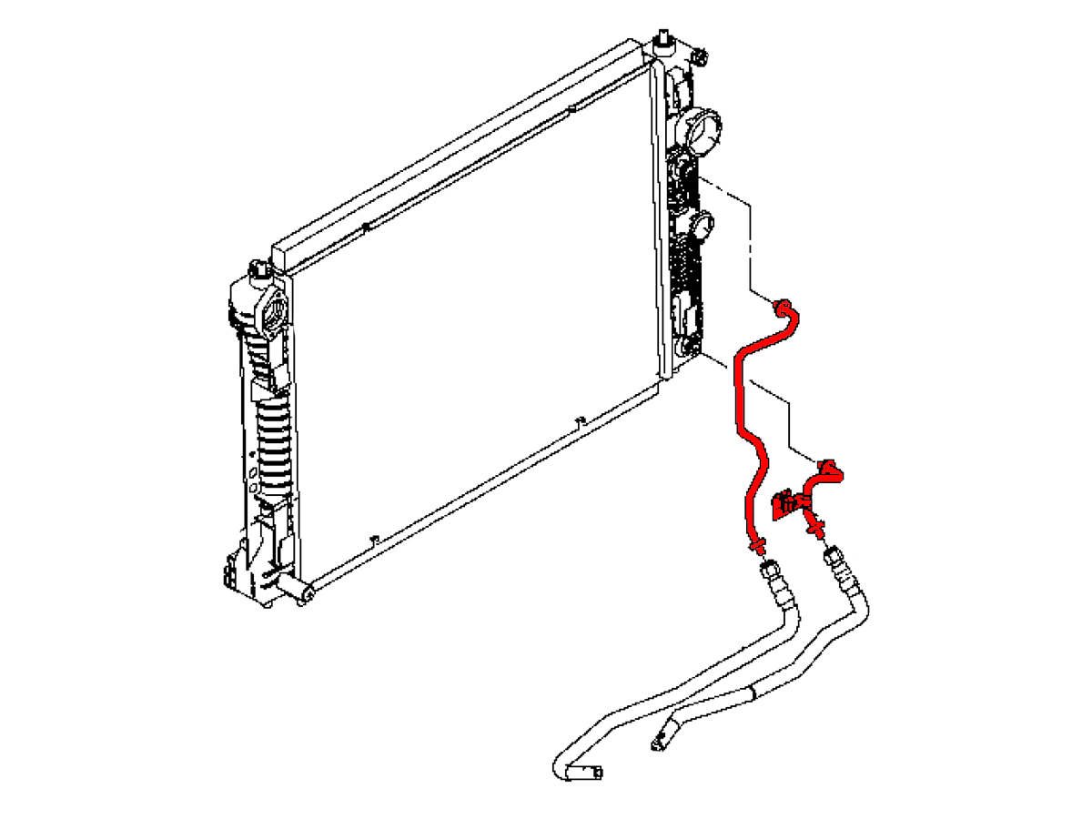 OEM Q50 / Q60 2.0t Transmission to Radiator Cooler Line