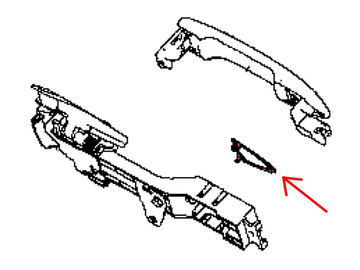 Oem Q50 Q60 Exterior Door Handle Hinge Gasket Z1