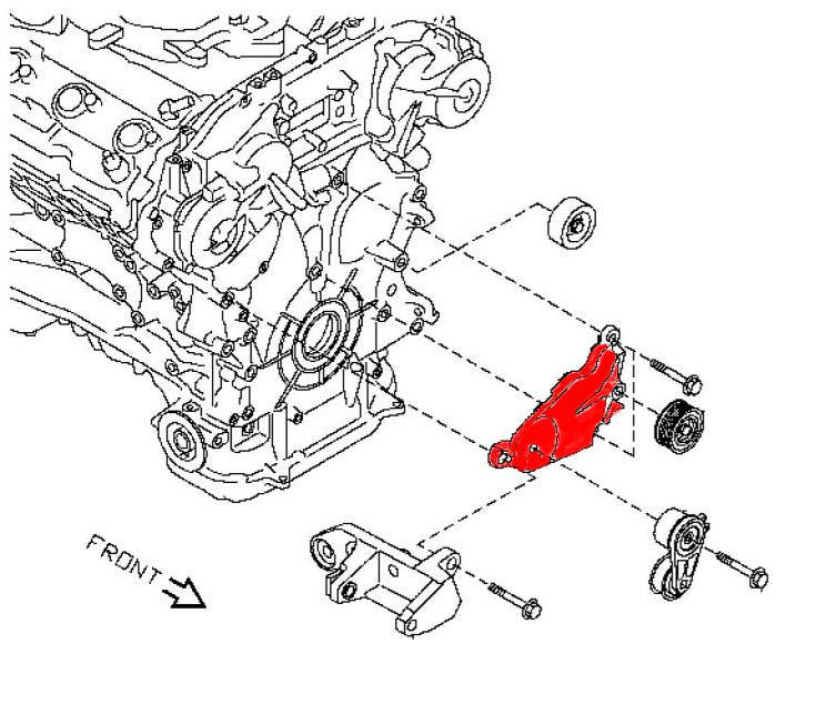 OEM HR Idler Pulley Bracket, Z1 Motorsports 300ZX