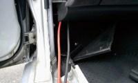 Z32バッテリー移設配線写真(その4)