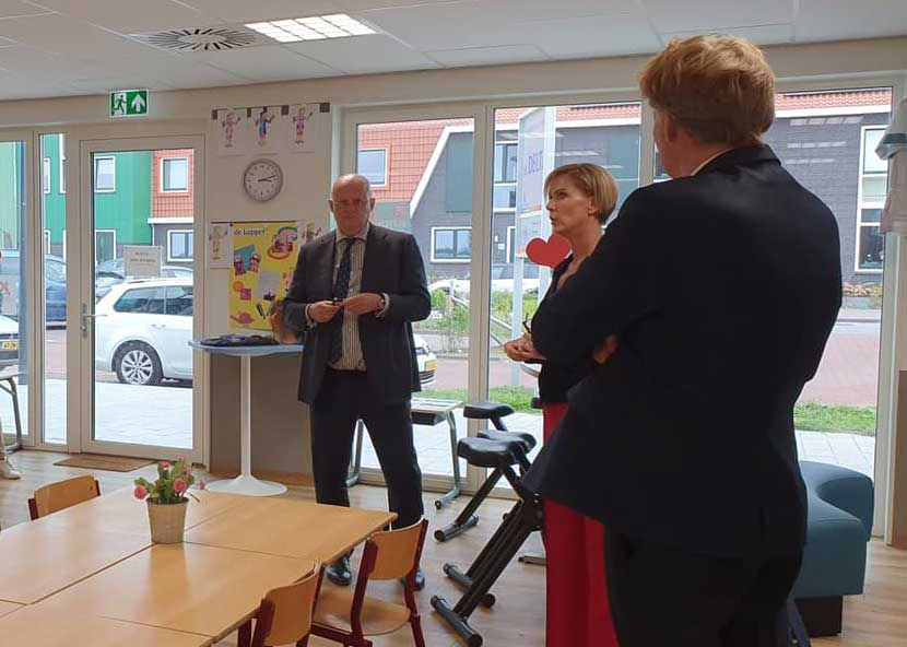 Minister Grapperhaus bezoekt OBS De Delta