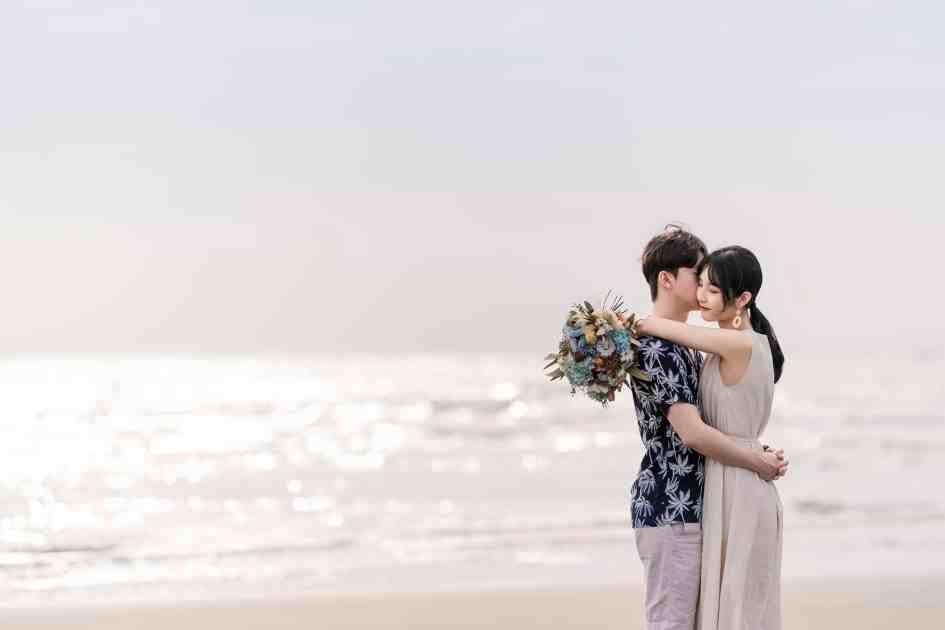 人像寫真|新竹新月沙灘|夕陽|雙人便服
