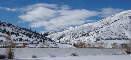 Picture from a rest stop on my way past Aspen, when I crossed the country in a Penske Truck in February