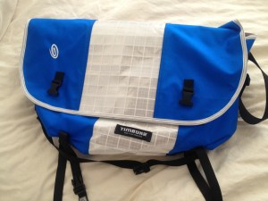 Blue, White, Blue Timbuk2 Bag