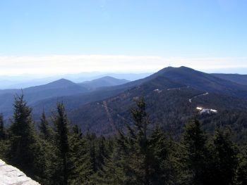 Southern Black Mountains with Pinnacle on left and Clingmans Peak on right