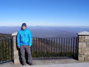 The author at Mt. Mitchell