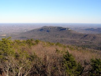 East view of Hanging Rock - from Moore's Knob