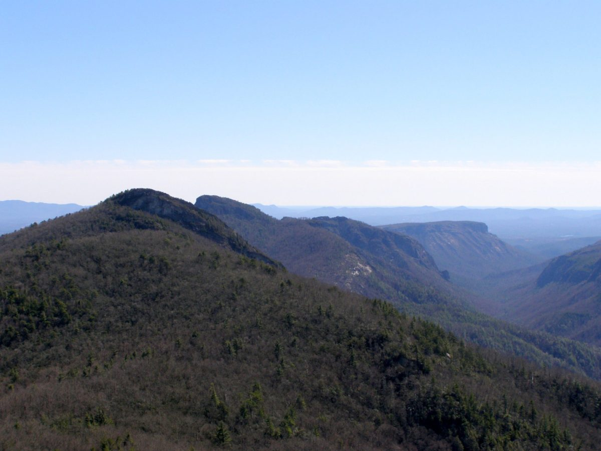 Hawksbill Mountain and Sitting Bear Mountain - Linville Gorge Wilderness, NC