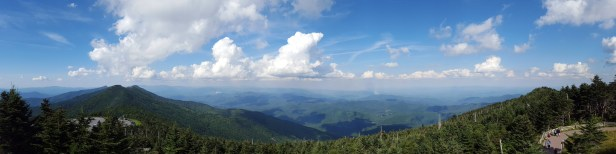 North-to-East panorama from Mt. Mitchell