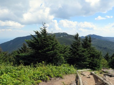 South view from Mt. Craig of Mt. Mitchell