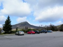 Mount Pisgah rising above the overlook parking