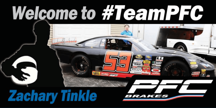 Zachary Tinkle Wins Coveted PFC Brakes Sponsorship