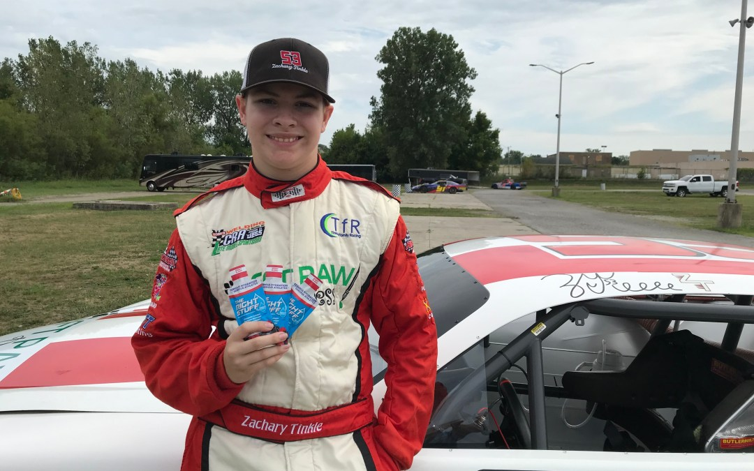 Zachary Tinkle Reaches His Full Potential Behind the Wheel of a Racecar As The Right Stuff Athlete Advocate