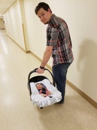 Leaving Glens Falls Hospital Snuggery