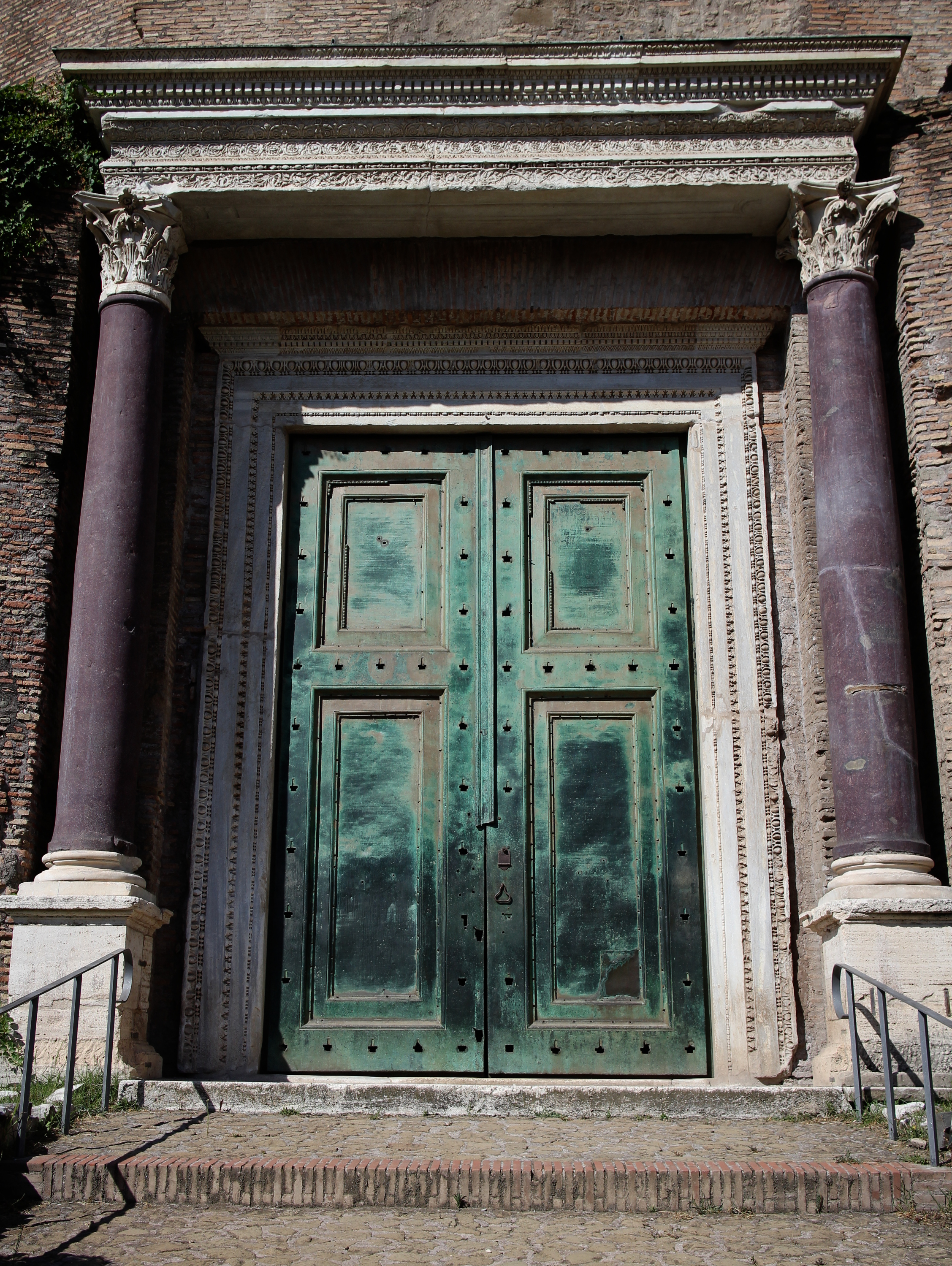 Rome- Forum- copper doors- Temple of Romulus- 1700 years old & Doors | Convergence