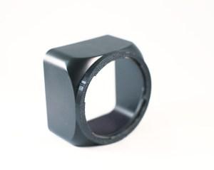 Custom Exakta 66 lens hood by Zach Horton