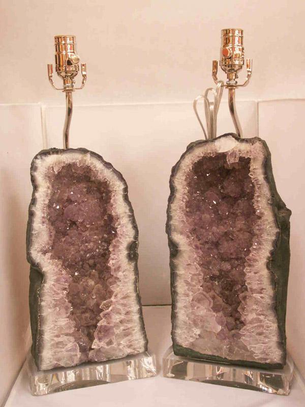 Custom Geode Lamp With Acrylic Base