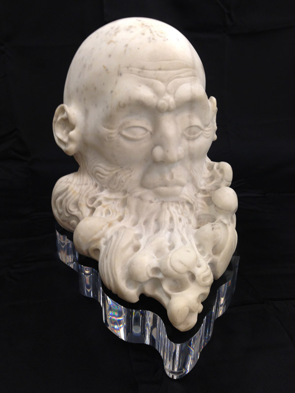 Carved Marble Head on Beautiful Custom Lucite (acrylic) Base