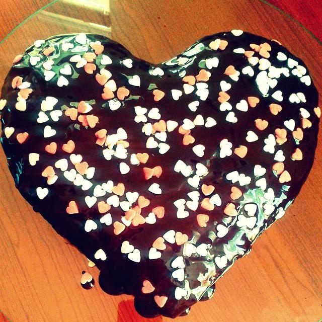 czekoladowo-piernikowe serce