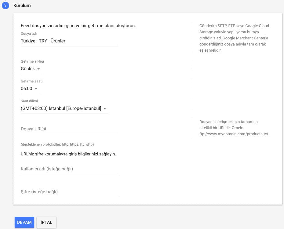 google merchant center ürün yükleme 3