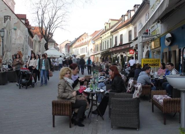The Tkalčićeva Street in Zagreb