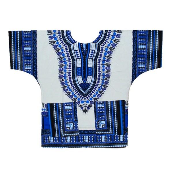 Dashiki White Blue Shirt