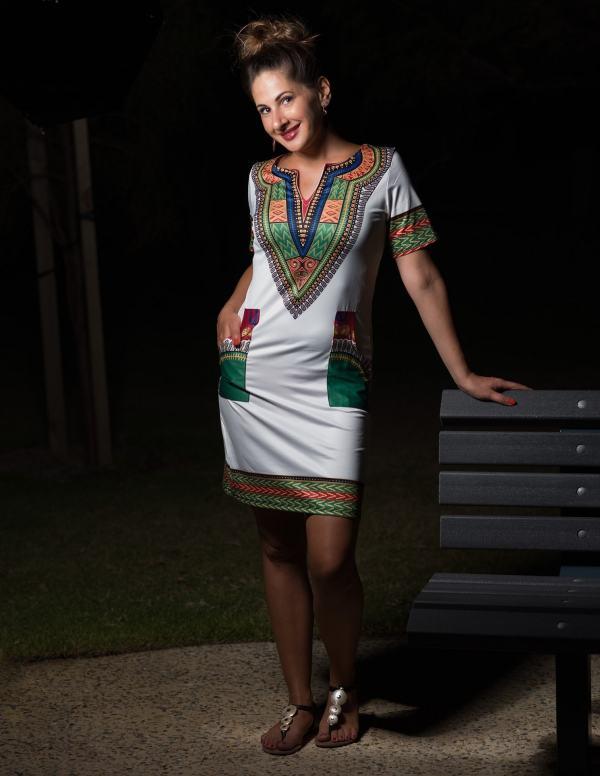 Sibo Stretchy Dashiki Dress