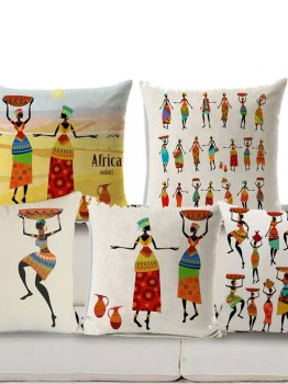 African Cushion Covers for Home Decor