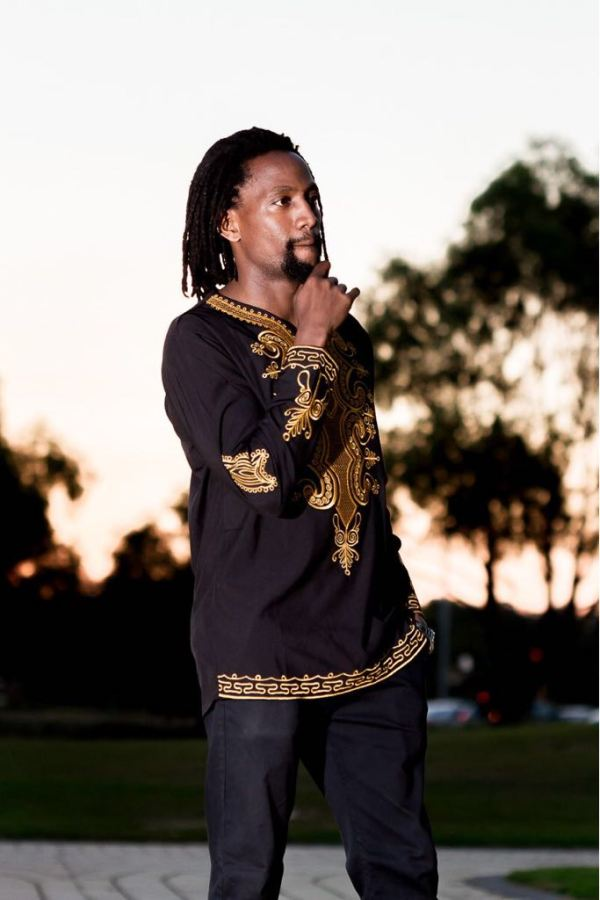 African Embroidery Long Sleeve Shirt (Front)