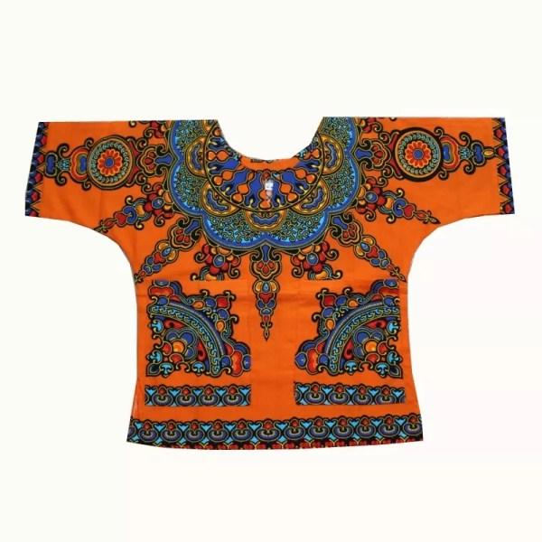 Orange Children's Dashiki Shirt