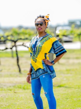 Dashiki Elastic Waist Top
