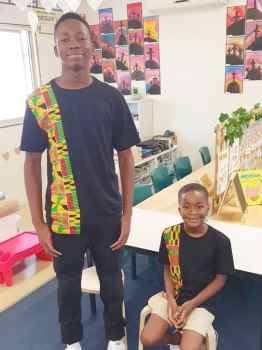 African Kids Kente T Shirt (Green)