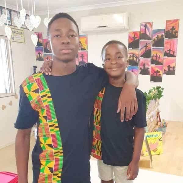 African Kids Kente T Shirt (Green)