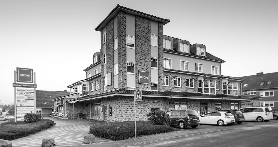 Lage / Gebäude unserer Zahnarztpraxis in Oststeinbek bei Hamburg