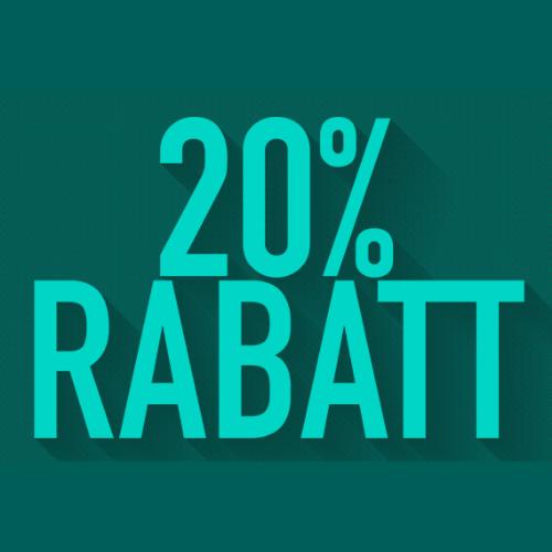 20 % Rabatt auf alle weiteren Produkte