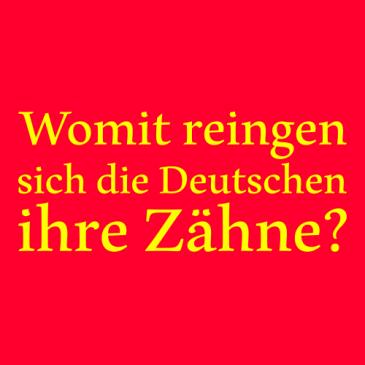 Womit reinigen sich die Deutschen ihre Zähne?