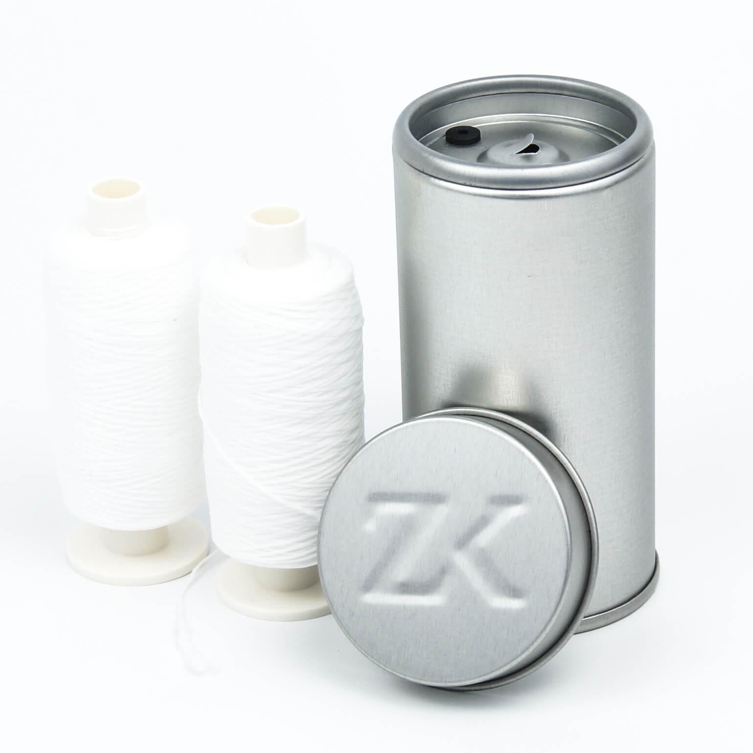 2 x 250 m Flauschige Expanding Premium Zahnseide gewachst mit grauer Dose