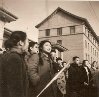 Manifestación contra el imperialismo estadounidense en  Congo. Pekín, 30 de noviembre de 1964