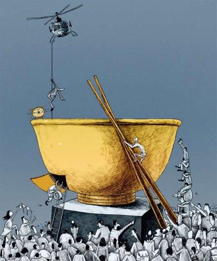 Ilustración de Ding Huayong (丁华勇). Publicada por Caixin.