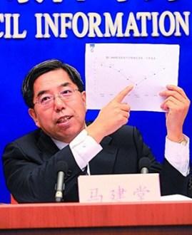 Ma Jiantang con las cifras en la mano.