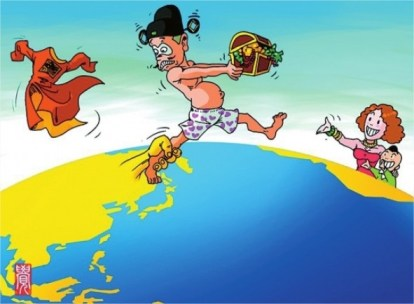 Viñeta cómica ilustrativa del fenómeno. Vía Baidu Baike (百度百科)