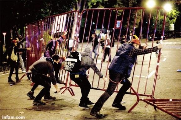 Imagen del 14 de noviembre en España, día en el que se celebró la huelga general. Esta fotografía fue una de las que acompañó el largo reportaje del Southern Weekend.