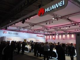 El pabellón de Huawei, una de las empresas con mayor presencia y repercusión mediática en este Congreso.